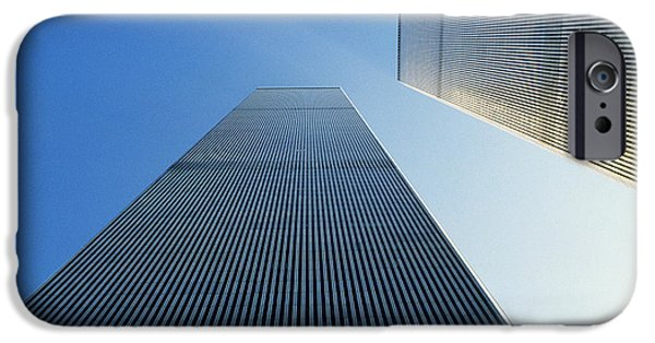 Twin Towers Nyc iPhone Cases - Twin Towers iPhone Case by Jon Neidert