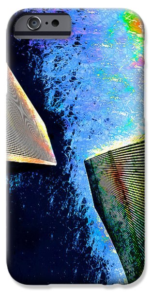 Twin Towers Nyc Digital iPhone Cases - Twin Towers No.2 iPhone Case by Daniel Janda