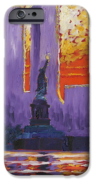 Twin Towers Nyc Paintings iPhone Cases - Twin Towers iPhone Case by Preston Sandlin