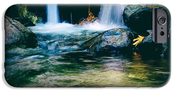 Becky Photographs iPhone Cases - Twin Waterfall iPhone Case by Stylianos Kleanthous