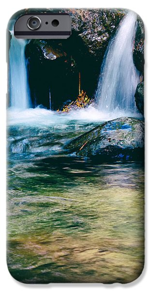 twin waterfall iPhone Case by Stylianos Kleanthous
