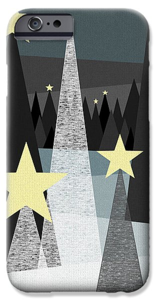 Snowy Night iPhone Cases - Twinkle iPhone Case by Val Arie