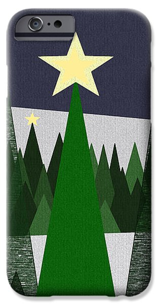 Twinkling Forest iPhone Case by Val Arie