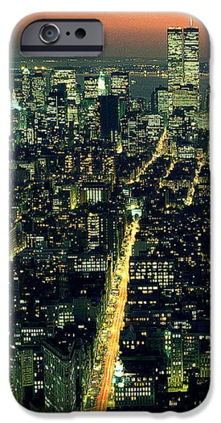 Twin Towers Nyc iPhone Cases - Twins iPhone Case by Jon Neidert