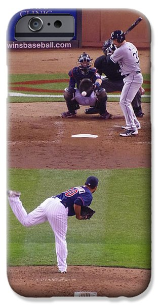Mounds Mixed Media iPhone Cases - Twins Vs White Sox 2 iPhone Case by Todd and candice Dailey