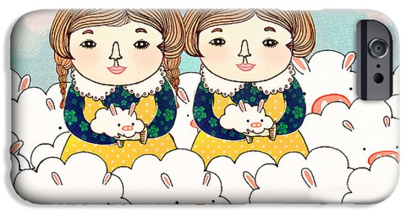 Zany iPhone Cases - Twins iPhone Case by Yoyo Zhao