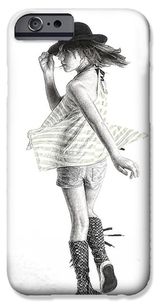 Young iPhone Cases - Twirl iPhone Case by Phyllis Taylor