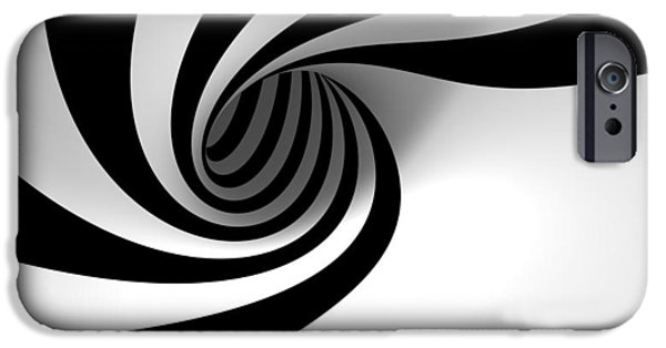 Reality iPhone Cases - Twirly Shapes iPhone Case by Gianfranco Weiss
