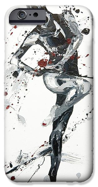 Ballet Dancers Paintings iPhone Cases - Twist iPhone Case by Penny Warden