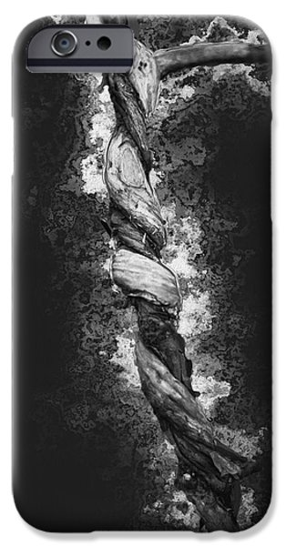 Soil Digital Art iPhone Cases - Twisted 2 iPhone Case by Jack Zulli