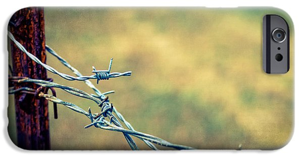 Barbed Wire Fences iPhone Cases - Twisted iPhone Case by Caitlyn  Grasso