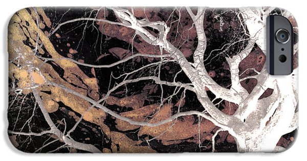 Asymmetrical iPhone Cases - Twisted Dance - Dark Dreams iPhone Case by Shawna  Rowe