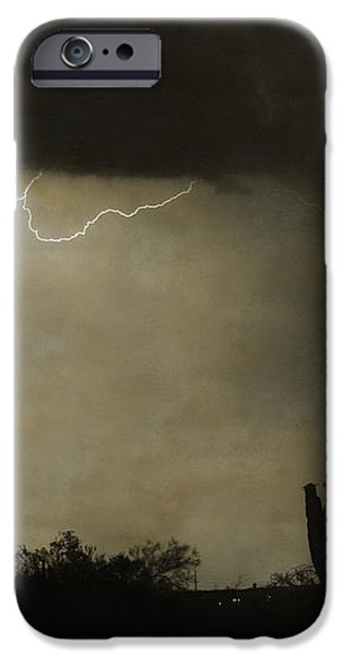 Twisted Desert Lightning Storm iPhone Case by James BO  Insogna