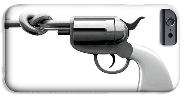 Crime iPhone Cases - Twisted Violence iPhone Case by Allan Swart