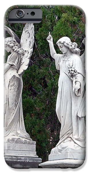Seraphim Angel iPhone Cases - Two Angels iPhone Case by Terry Reynoldson