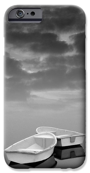 Merging iPhone Cases - Two Boats and Clouds iPhone Case by David Gordon
