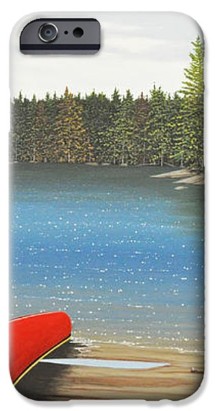 Two Canoes iPhone Case by Kenneth M  Kirsch