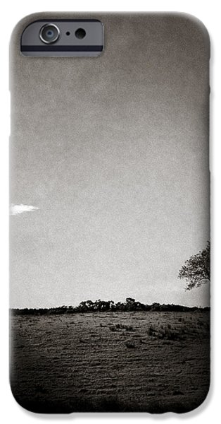 Two Clouds and a Tree iPhone Case by Dave Bowman