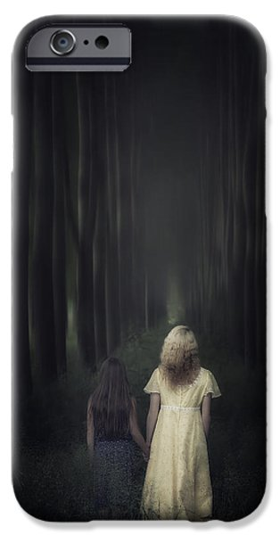 Young Photographs iPhone Cases - Two Girls In A Forest iPhone Case by Joana Kruse