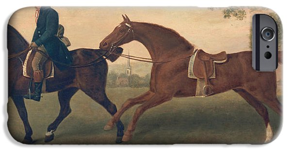 Animal Cards iPhone Cases - Two Hacks iPhone Case by George Stubbs
