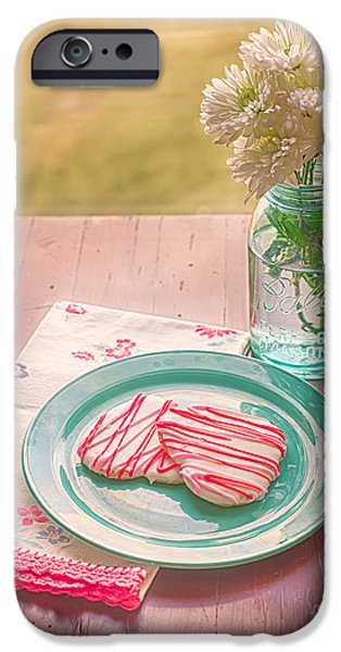 Two Hearts Picnic iPhone Case by Kay Pickens