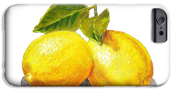 Sour iPhone Cases - Two Lemons iPhone Case by Irina Sztukowski