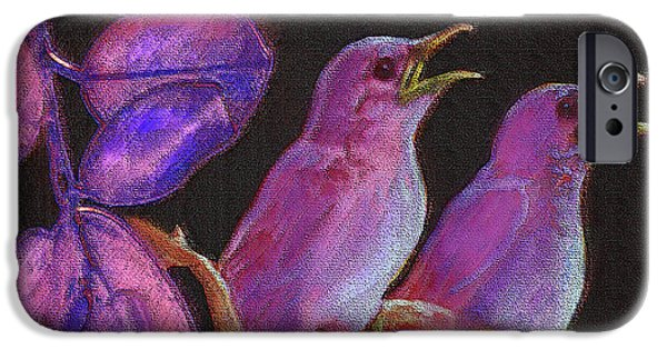 Baby Bird iPhone Cases - Two Little Birds In Pink iPhone Case by Jane Schnetlage