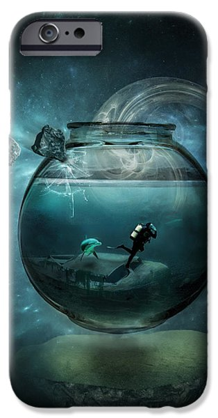 Conceptual Digital iPhone Cases - Two lost souls iPhone Case by Erik Brede
