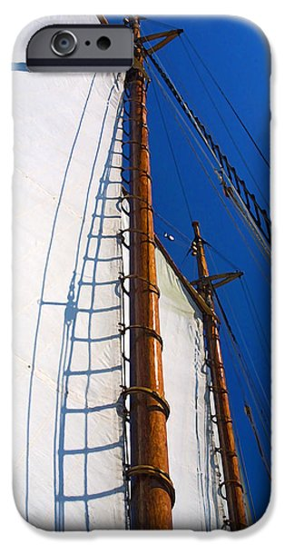 Sailboats iPhone Cases - Two-Masted iPhone Case by Bill Caldwell -        ABeautifulSky Photography