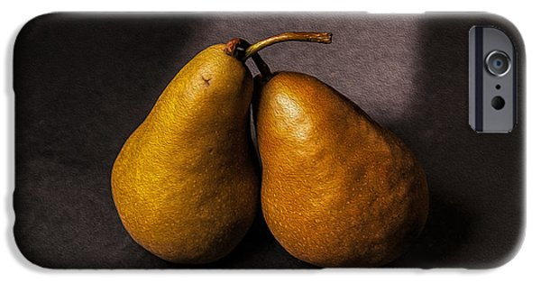 Pears iPhone Cases - Two Pear iPhone Case by Peter Tellone