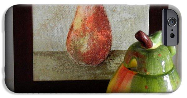 Couple Ceramics iPhone Cases - Two Pears iPhone Case by Ruta Naujokiene