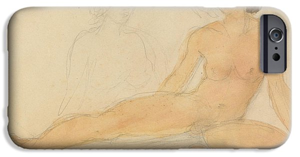 2 Seat iPhone Cases - Two Seated Nudes iPhone Case by Auguste Rodin