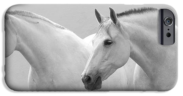 Horse iPhone Cases - Two Spanish Mares iPhone Case by Carol Walker