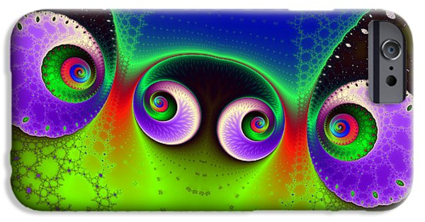 Glynn iPhone Cases - Two Spirals and a Glynn iPhone Case by Mark Eggleston