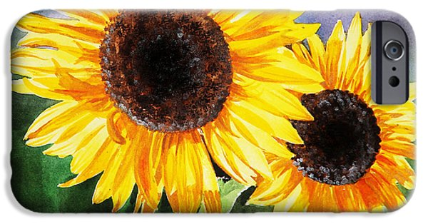 Blossom iPhone Cases - Two Suns iPhone Case by Irina Sztukowski