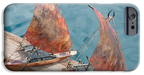 Canoe Sculptures iPhone Cases - Takia duo iPhone Case by Shane Bower