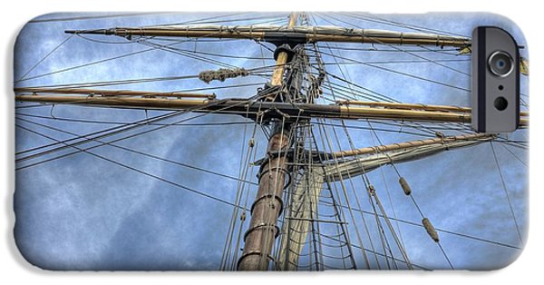 Tall Ship iPhone Cases - Two years before the Mast iPhone Case by David Bearden