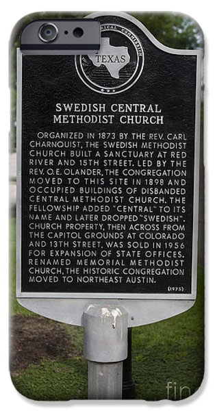 Jason O. Watson iPhone Cases - TX-15330 Swedish Central Methodist Church iPhone Case by Jason O Watson
