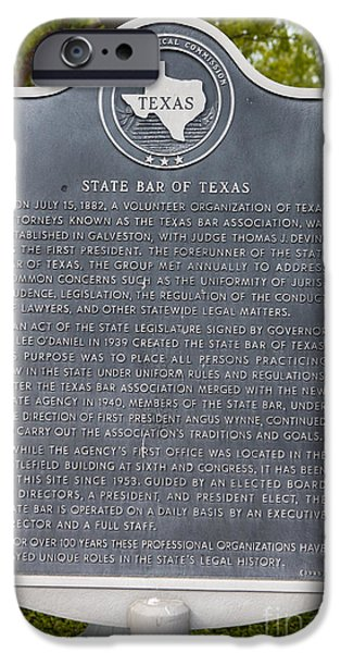 Jason O. Watson iPhone Cases - TX-6422 State Bar of Texas iPhone Case by Jason O Watson