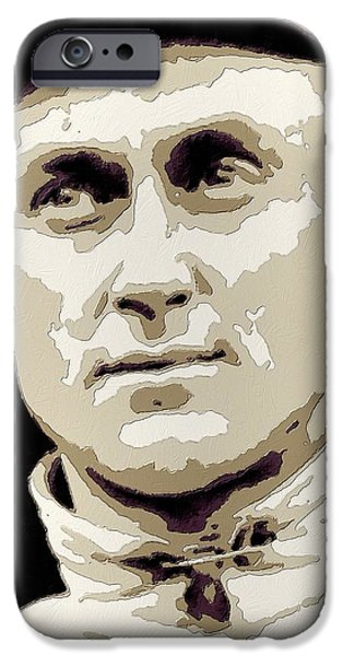 Baseball iPhone Cases - Ty Cobb Poster Art iPhone Case by Florian Rodarte