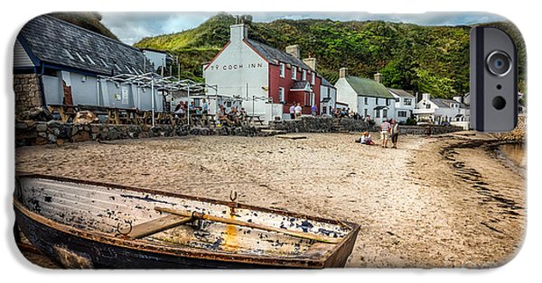 Coastline Digital Art iPhone Cases - Ty Coch Inn iPhone Case by Adrian Evans