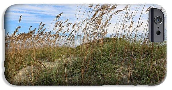 Tybee Island iPhone Cases - Tybee Island Dune iPhone Case by Carol Groenen