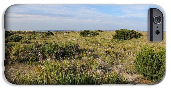 Tybee Island iPhone Cases - Tybee Island Dunes and Path iPhone Case by Carol Groenen
