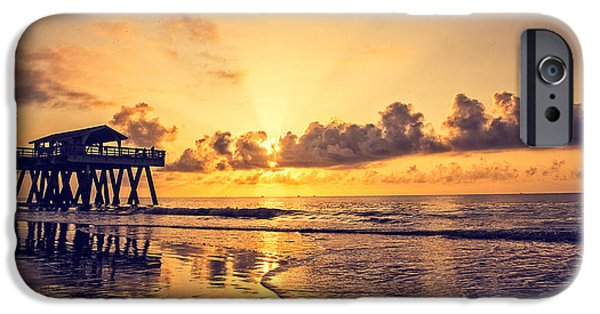 Tybee Island Pier iPhone Cases - Tybee Island Pier iPhone Case by A Different Brian Photography