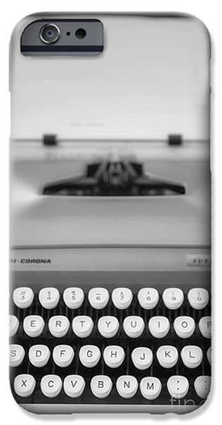 Typewriter Keys Photographs iPhone Cases - Type It iPhone Case by Rebecca Cozart