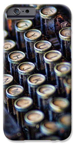 Typewriter Keys iPhone Cases - Typewriter Keys iPhone Case by David and Carol Kelly