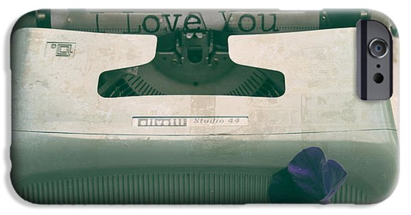 Outmoded iPhone Cases - Typewriter Love iPhone Case by Nomad Art And  Design