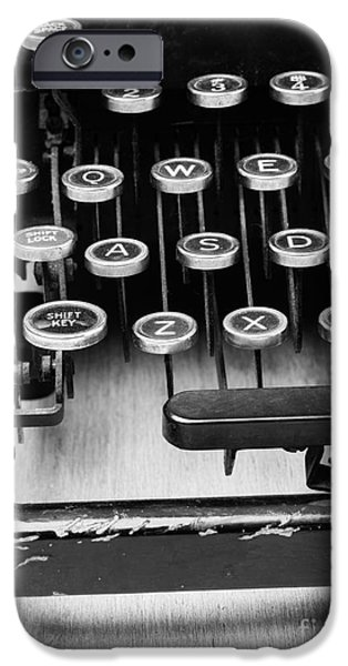 Author iPhone Cases - Typewriter Triptych Part 1 iPhone Case by Edward Fielding