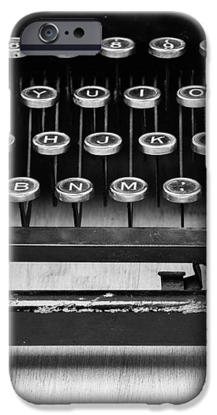 Author iPhone Cases - Typewriter Triptych Part 2 iPhone Case by Edward Fielding