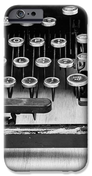 Author iPhone Cases - Typewriter Triptych Part 3 iPhone Case by Edward Fielding